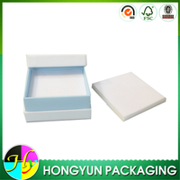 Top quality flat white velvet jewelry packing box