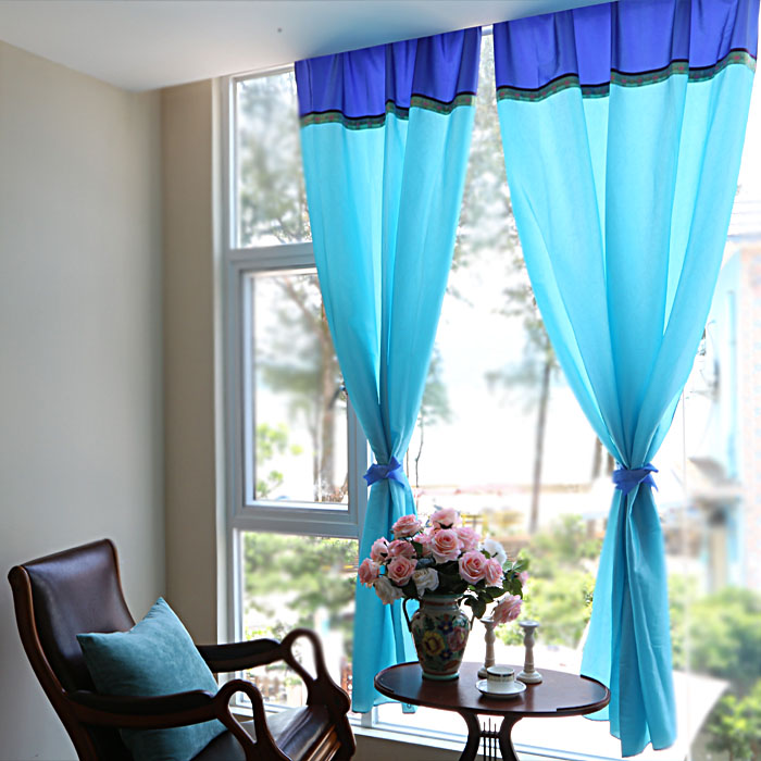 Mediterranean Style Windows Viendoraglass Com: Mediterranean Style Windows Blue Curtains Finished