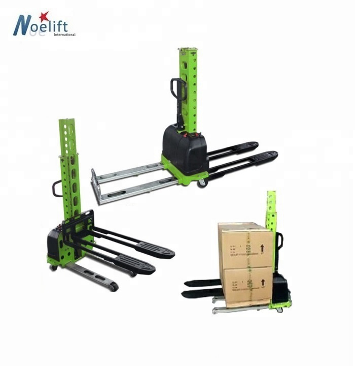 500Kg Self Loading Pallet Truck with lifting height 0.8m 1m 1.2m 1.3m