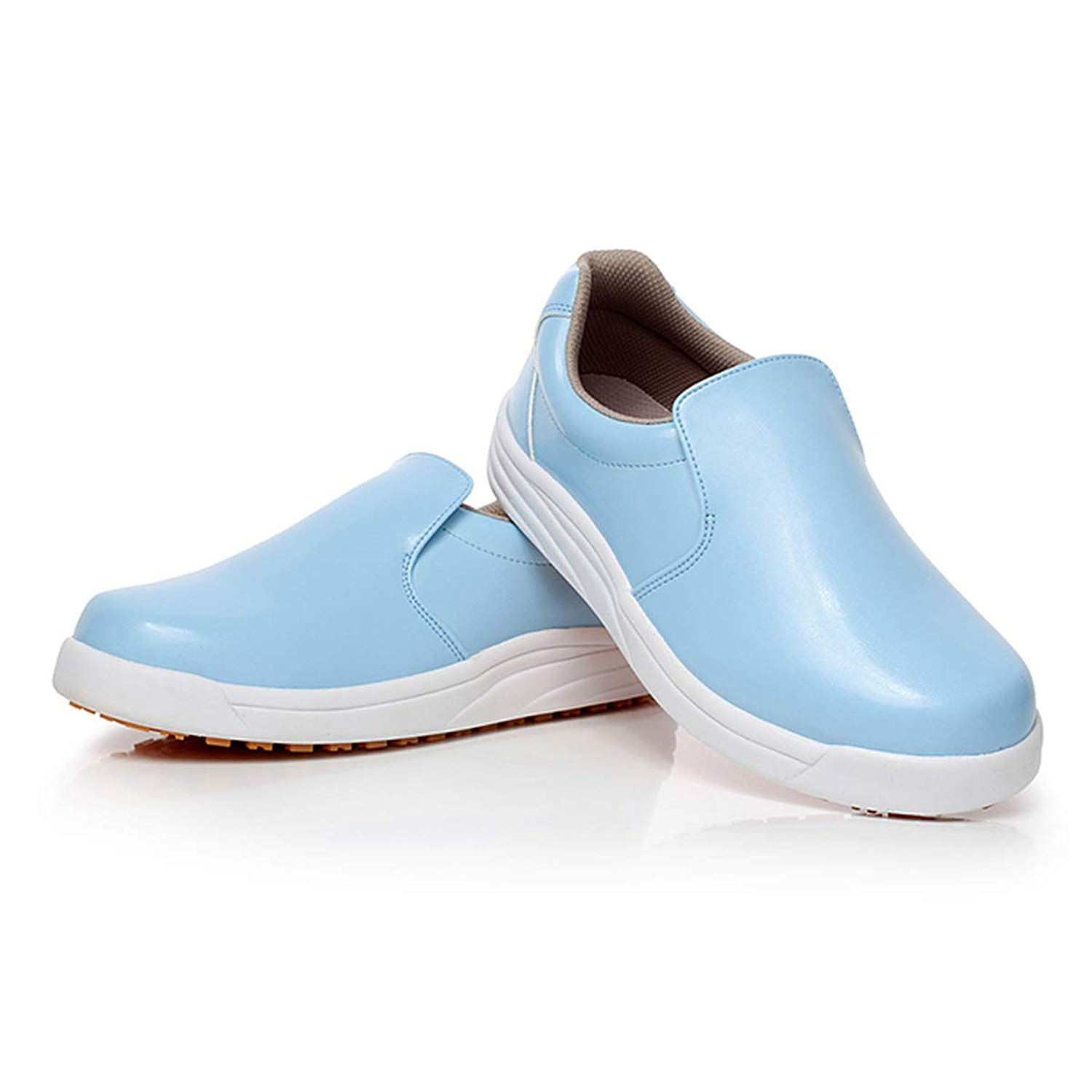 e5a59c399a86 Get Quotations · Unisex Men Women s Breathable Slip-on Safety Shoes Non-Slip  Waterproof Factory Kitchen