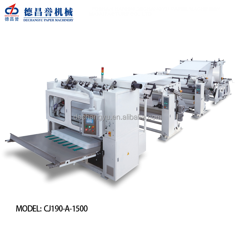 V interfold facial tissue/hand towel/kitchen paper towel making machine