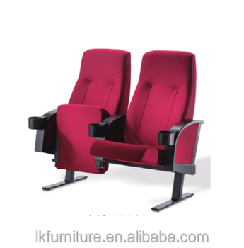 Comfortable Tip Up Seat Cinema Chair With Freestanding Long Feet In Powder  Coated Finished