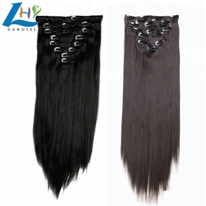 Pure Handmade Making Clip In Hair Extension Virgin Remy Brazilian Human Hair Weave Bundles