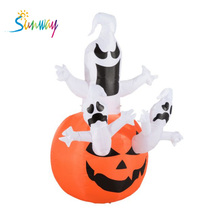 Sunway Lighted Inflatable ตกแต่งกลางแจ้ง/ฟักทองฮาโลวีน Inflatable Ghost