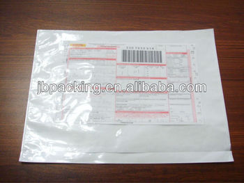 Waybill Pouch Attached Mailing Envelope Plastic Poly