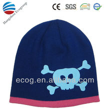 High quality warm winter knit pattern for hat with earflaps