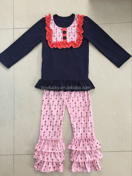 2016 New Arrival Baby Girl Valentine Day Outfits 100 Cotton Soft