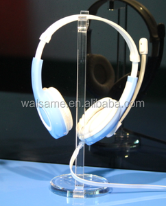 Custom manufacture acrylic headset display acrylic bluetooth heads plexiglass headset holder displayet caller display