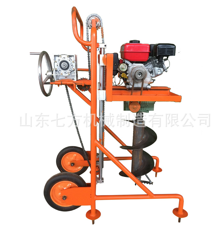 Easy operation hand push garden earth auger
