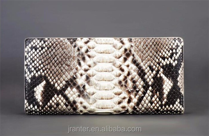 Wholesale classic real python snake skin lady clutch wallet,luxury fashion slim wallet for women