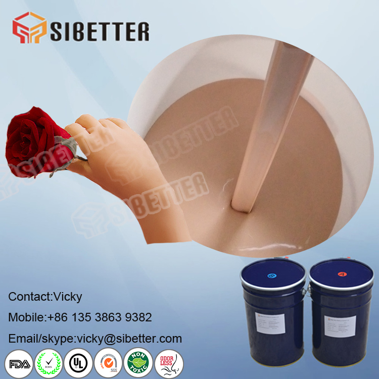 Human Skin Color Medical Grade Liquid Silicone Rubber for Prosthetic Parts