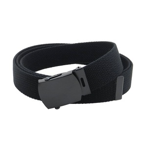 Many Colors Army Canvas Web Belt Military Style with Black Buckle
