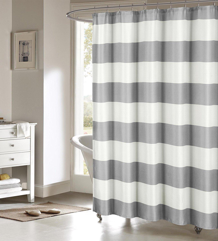 White Geo Design 70w X 72l Gray Linen Textured Sheer Fabric