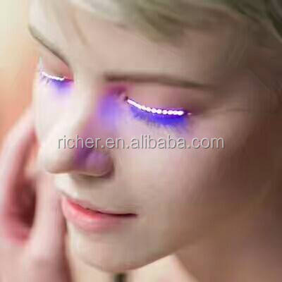 Sound Activated Or 7 Flashing Modes Led Eyelashes For Party Dancing Lashes with LED Strips