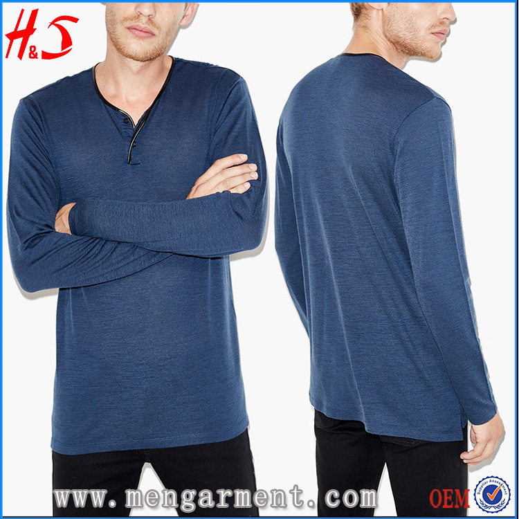 Plain Long sleeves T Shirt Fashion Men T Shirt In Bulk From New Clothing Company