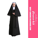 Halloween Party Women Sexy Nun Costume Fancy Dress Black Sexy Nun Costume