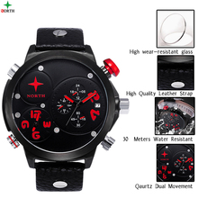 Top Sales Two Zone japanese+quartz+movement+watches