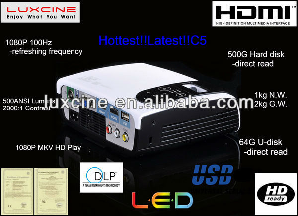 C5 1080P 100Hz projector for distributor