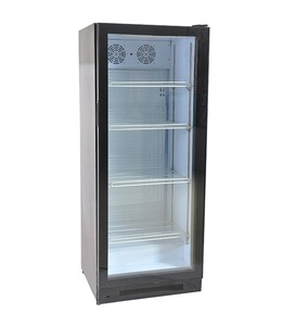 330L glass door Upright beverage drink display Showcase cooler