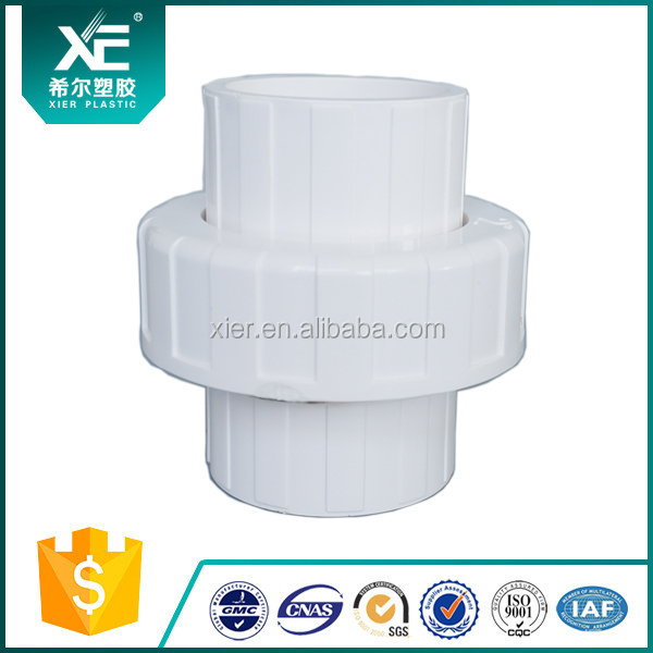 High Quality Plastic SCH 80 PVC Pipe Fitting Union for PVC Pipe Connect
