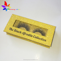 Private label fake lashes box wholesale glitter eyelash packaging box
