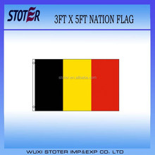 cheap polyester Belgium national flag
