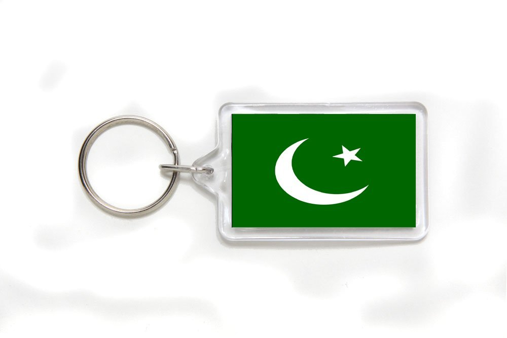 cf888d9170 Get Quotations · Pakistan Pakistani Flag Double Sided Acrylic Key Ring Small