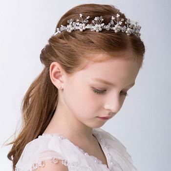 Latest Hairband Designs Kids Stylish Silvery Headband Wholesale Children  Girls Pearls Hair Accessories. 968762fdbdf
