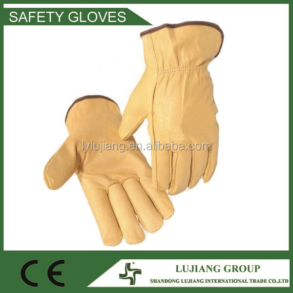 LJ-MS2603A 10'' Goat leather work driver gloves, leather driver gloves