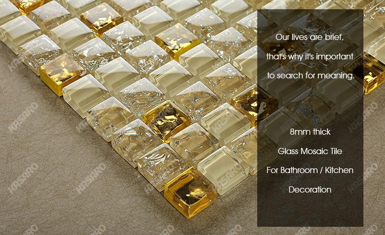 Vendita calda cucina backsplash piastrelle di colore oro mattonelle
