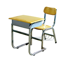 Cheap single attached student furniture kids student table and chair for study