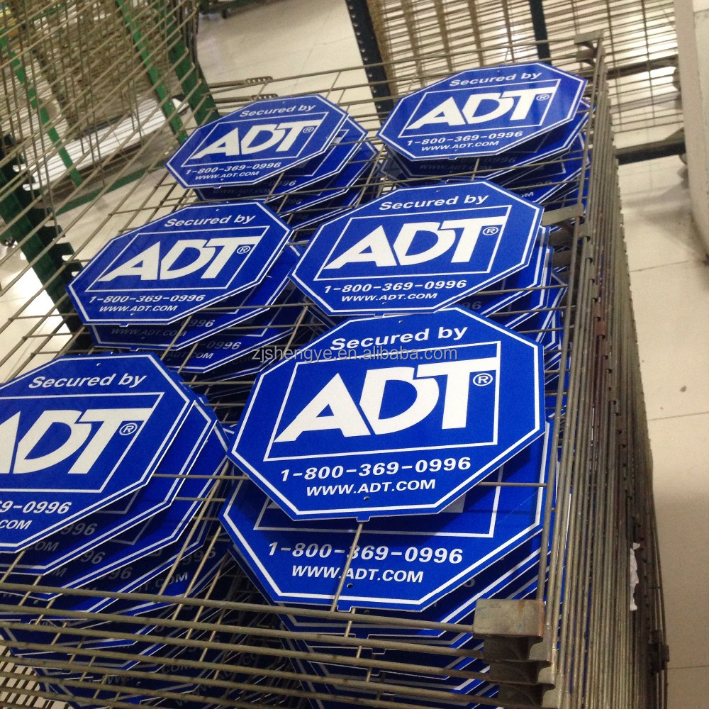 American Plastic Reflective Adt Security Yard Sign Buy Adt Security Yard Sign American Plastic Yard Signs Reflective Security Yard Sign Product On