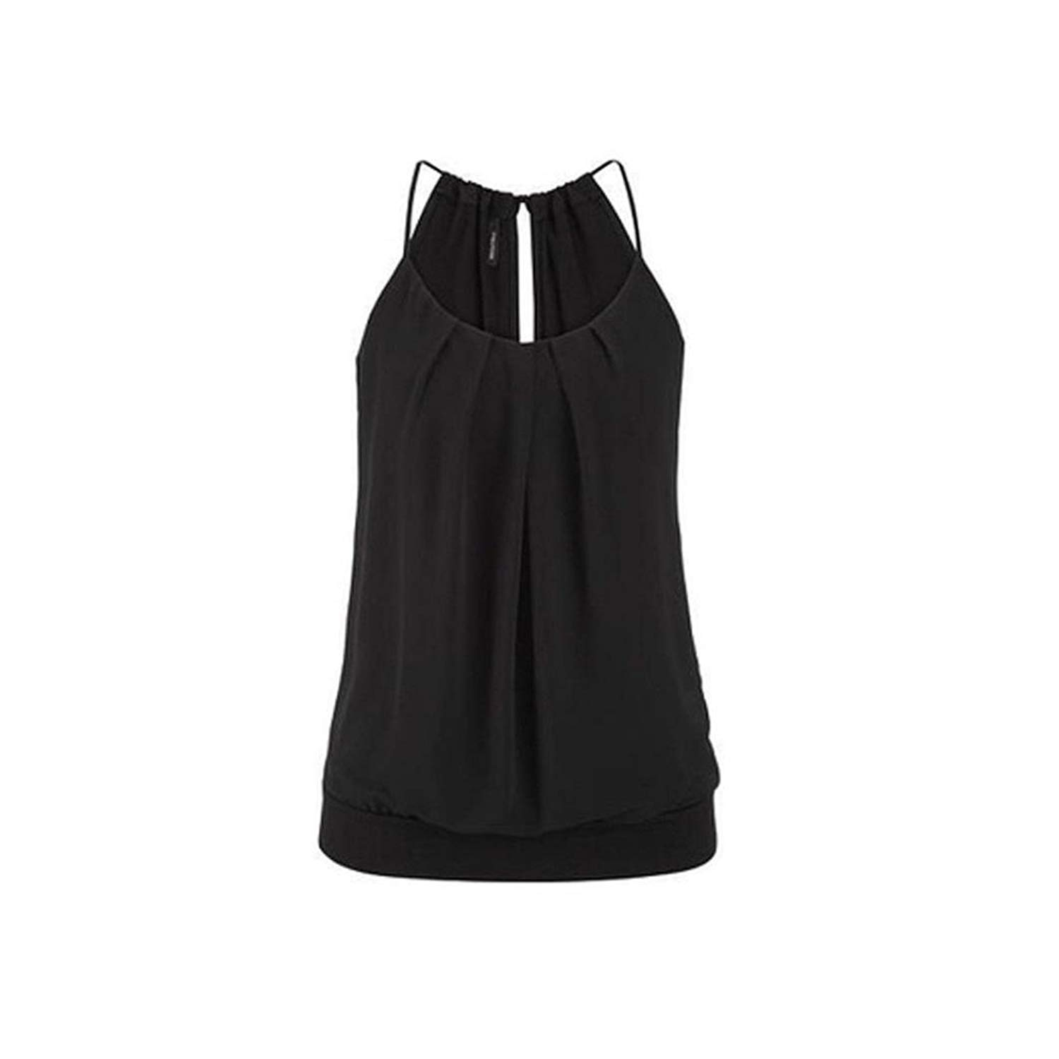 Paymenow Hot Sale Women T Shirts Tank Tops for Women 2018, Solid Sleeveless Blouse Casual Summer Ruffled Cami Vest Camisole