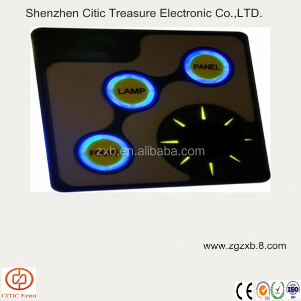 Auto membrane switch backlight capacitive touch keypad