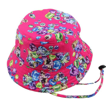 207425faf70 Plain bucket hat wholesale custom cool blank floral bucket hats with strings