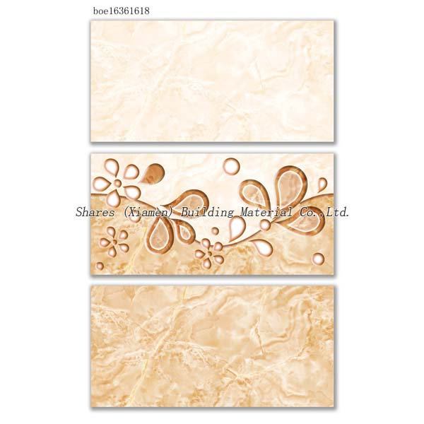 2017 super ceramic flower patterns shiny glazed decorative wall tiles 300 x 600mm