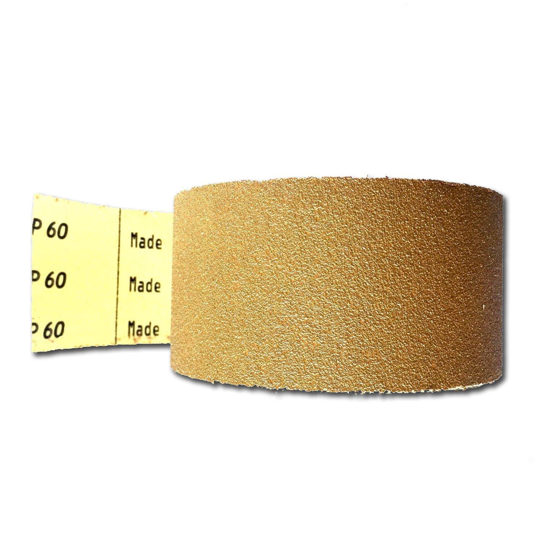 400 Grit 5 Inch Discs On a Roll PSA Gold Sticky Back DA Sanding Paper 100 Pack