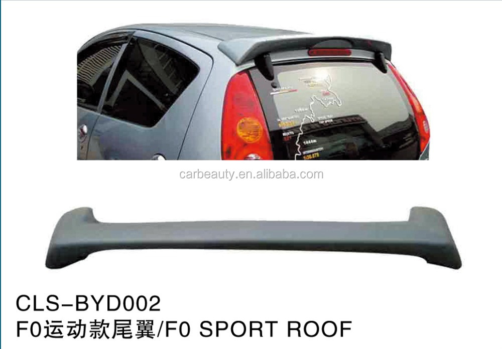 BYD002 ABS car rear roo spoiler for BYD F0 sport roof
