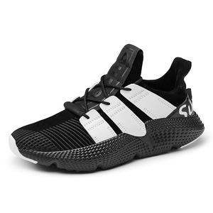 fashion good quality artificial leather breathable cotton fabric lining shoes men sport running air sneakers