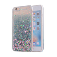 for iphone 6 bling glitter liquid clear floating quicksand mobile phone case