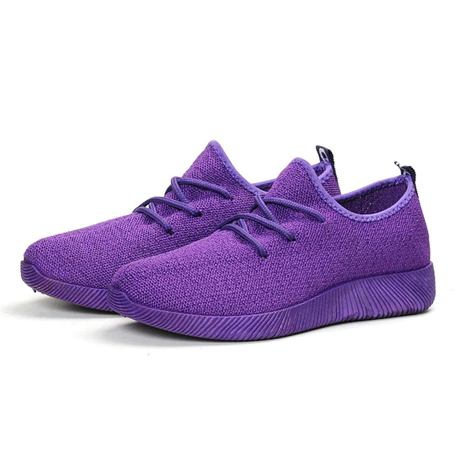 Dolwins Unisex Quick Drying Mesh Slip Aqua Water Shoes Sports Shoes Beach Shoes (Purple-36/5.5 B(M) US Women)