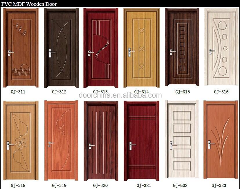 Turkish wooden diamond glass interior doors pvc sample for Wooden interior doors designs