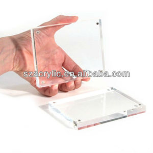 Clear glass block photo frame