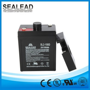 high quality use on mobile base stations batteries bank 2v 150ah deep cycle battery for solar solutions