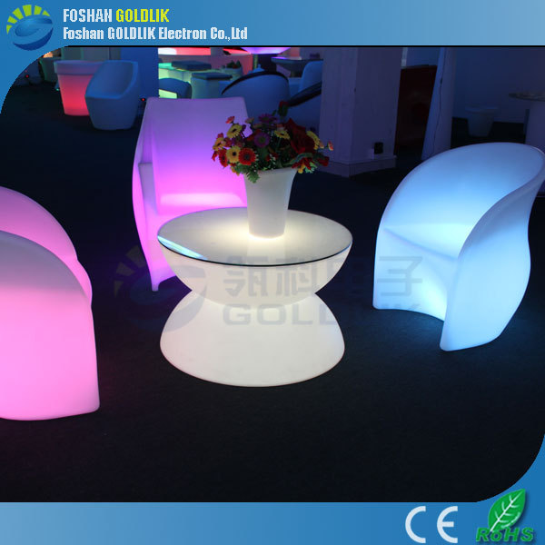 Lucite display bar and lounge furniture with color flashing GKT-040DC