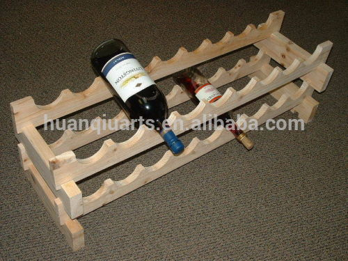 wholesale Unique convenient removable pine wood wine rack with FSC for 1 bottles