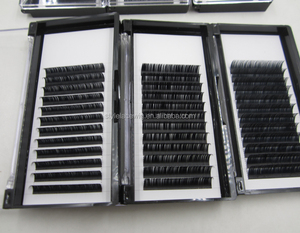 Hand made korea wholesale individual eyelash extension in 0.03-0.25mm thickness