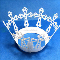 cheap Exquisite hollow cross design Laser Cut cupcake wrappers birthday wedding party cake decoration favors