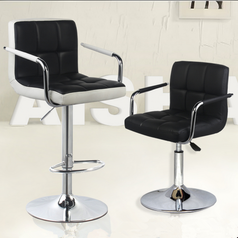 New Design PU Leather Swivel Arm Rest Steel Metal Bar Chair