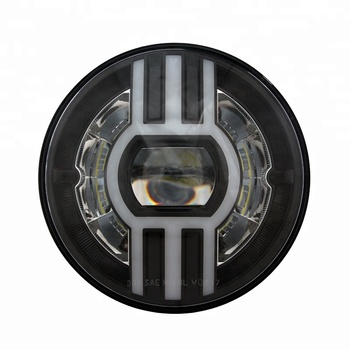 For Jeep DOT Round 7inch LED Headlight With Indicate light